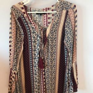 Patterned flowing dress